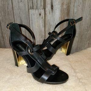 White House Black Market black sandals heels 9.5